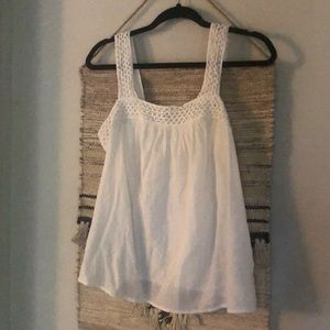 Old Navy gauzy white tank S